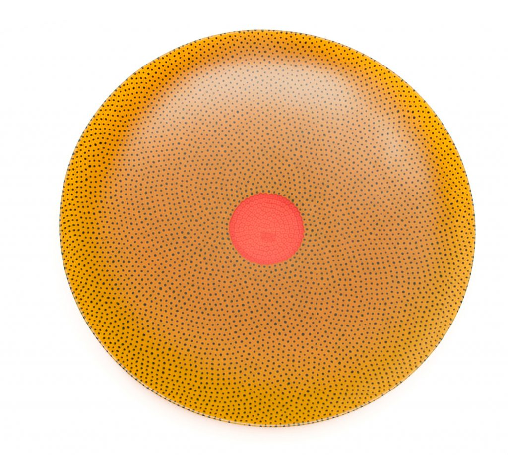 YELLOW CHARGER WITH RED CENTER SPOT | 24216