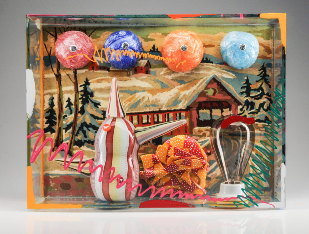 PAINT BY NUMBERS WITH SNOWBALLS, WEIRD TEAPOT AND LIGHT BULB | 32080